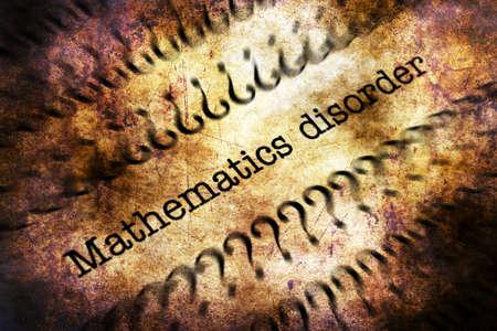 trastorno: grunge concepto matem�tico trastorno