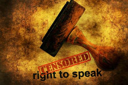 gag: Censored right to speak grunge concept