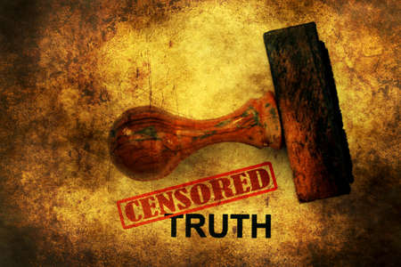 censored: Censored truth grunge concept