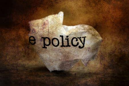 broken strategy: Policy trashgrunge  concept