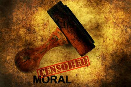censored: Censored moral grunge concept