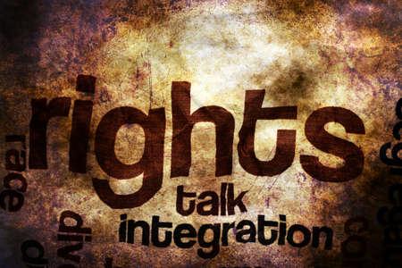 influencer: Broken rights to speak grunge concept Stock Photo