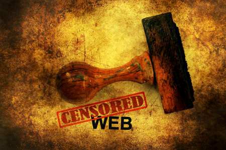 censored: Censored web grunge concept