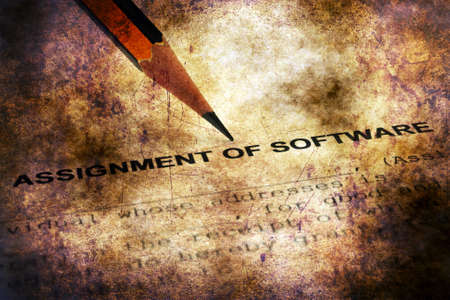 Assignment of software grunge concept Stock Photo