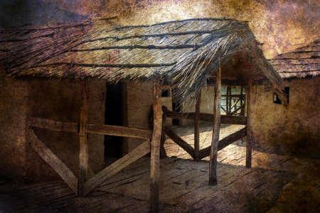 mud house: Straw house grunge concept