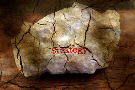 broken strategy: Broken strategy grunge concept