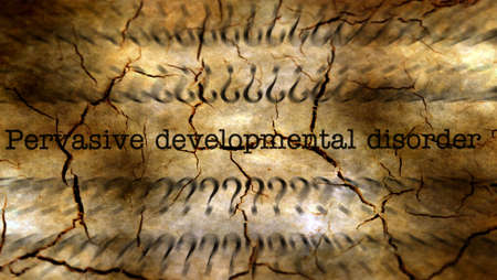 developmental disorder: Pervasive developmental disorder grunge concept
