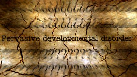 pervasive: Pervasive developmental disorder grunge concept
