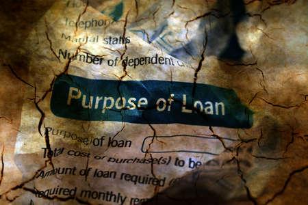 abandon: Abandon loan form grunge concept