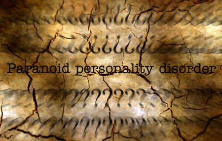 manic: Paranoid personality disorder grunge concept Stock Photo