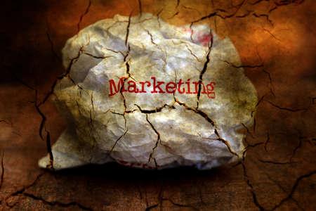 unoccupied: Abandon marketing grunge concept