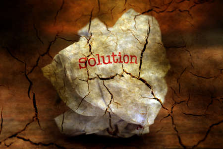 bewildered: Abandon solution grunge concept Stock Photo