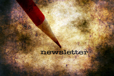 cartas antiguas: Newsletter text on grunge background Foto de archivo