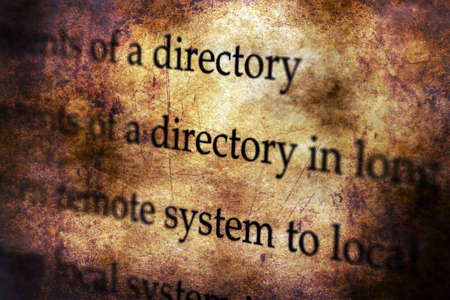 directory: System directory grunge concept