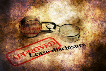 disclosure: Stamp approved on Lease disclosure
