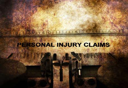 sue: Personal injury claim on vintage typewriter