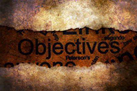 paper hole: Objectives concept on paper hole