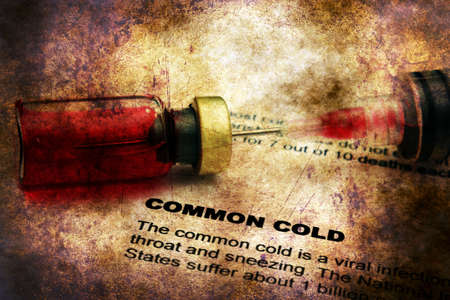 Common cold grunge concept Stock Photo
