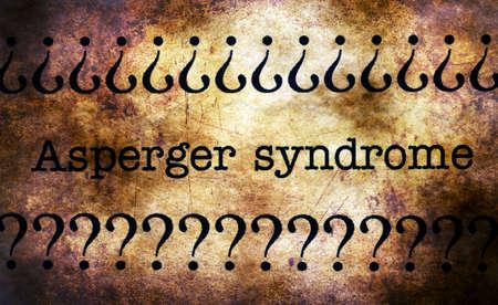 asperger syndrome: Asperger syndrome grunge concept