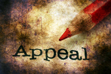 appeal: Pencil on appeal text Stock Photo