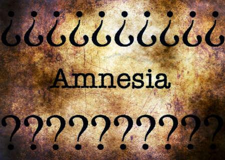 desorden: Amnesia concepto de trastorno del grunge
