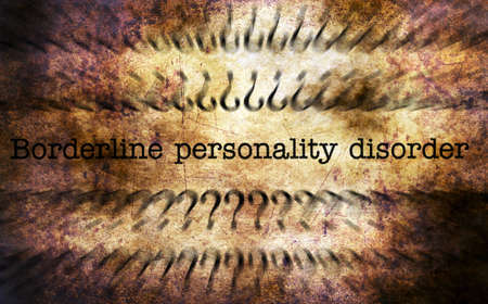 PERSONALITY: Personality disorder grunge concept Stock Photo