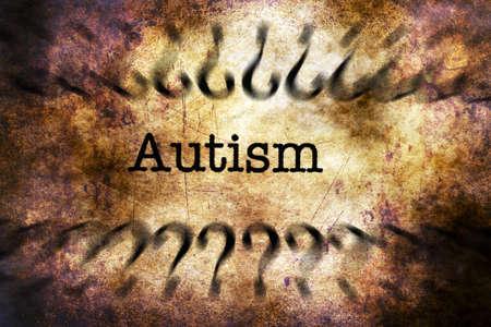 trastorno: El autismo concepto de trastorno del grunge
