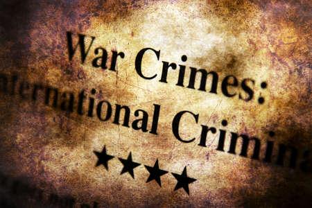 crimes: War crimes grunge concept Stock Photo