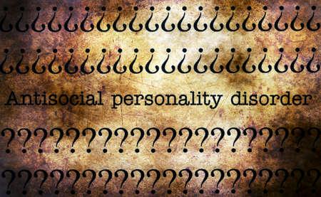 trastorno: pesonality antisocial concepto de trastorno del grunge Foto de archivo