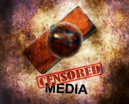 censored: Censored media grunge concept