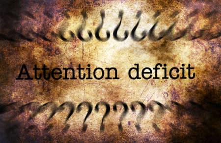 deficit: Attention deficit grunge concept Stock Photo