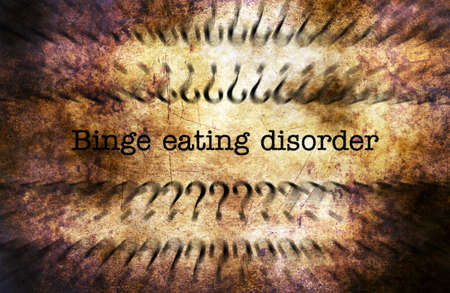 binge: Binge eating disorder grunge concept Stock Photo