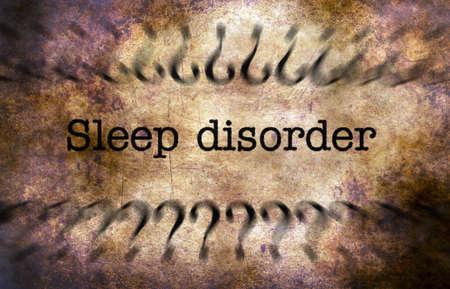 sleep disorder: Sleep disorder grunge concept