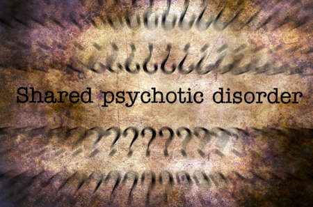 psychosocial: Psychotic disorder grunge concept