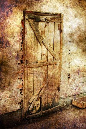 barnwood: Old door grunge concept