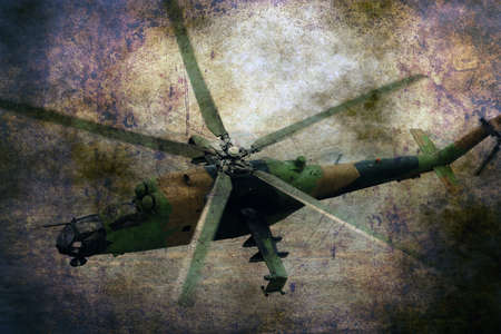 blackhawk helicopter: Military helicopter on grunge background