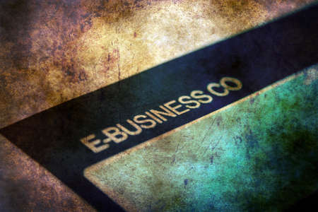 e work: E- business grunge concept