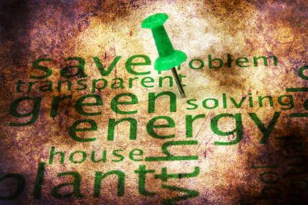 metaphoric: Green energy word cloud grunge concept