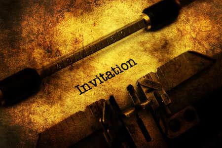 ransom: Invitation letter on vintage typewriter Stock Photo
