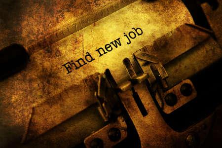 Find new job on vintage typewriter