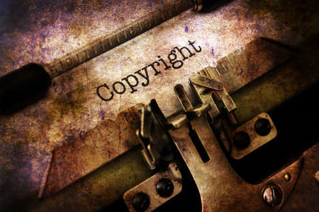 vintage document: Copyright text on vintage typewriter Stock Photo