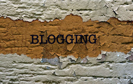 Blogging text grunge concept