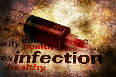 infection: Syringe and aids infection grunge concept
