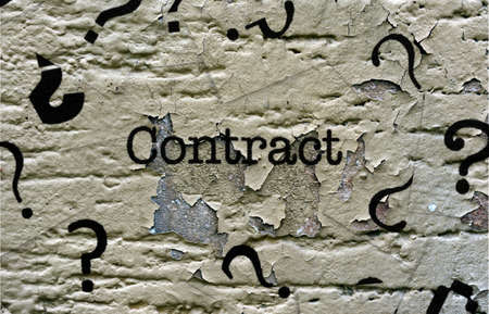 signing papers: Contact text grunge concept