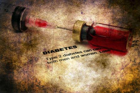 hyperglycemia: Diabetes disease grunge concept Stock Photo