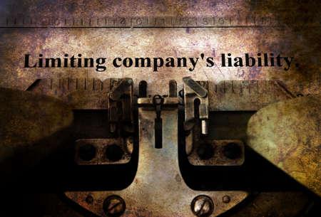 shipper: Company liability form on typewriter