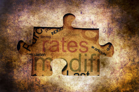 rates: Rates puzzle grunge concept Stock Photo