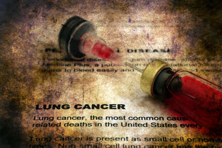 lung cancer: Lung cancer grunge concept