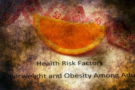health risk: Health risk factors grunge concept