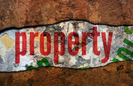 old papers: Property text on wall